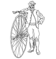 Retro bike vector image vector image