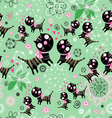 texture of the fun loving cats vector image vector image
