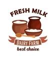 Fresh milk isolated icon vector image