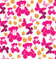 Seamless pattern teddy bears vector image