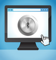 internet security concept vector image vector image