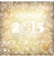 golden 2015 new year card vector image