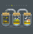 Flat Ecosystem Oxygen vector image vector image