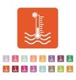 The cold water temperature icon Icy liquid symbol vector image