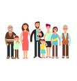 Cartoon smiling happy family grandpa and grandma vector image
