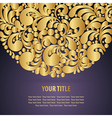 Circle golden background vector image