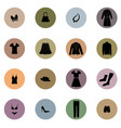 cloths icon set fashion sign female wardrobe vector image