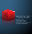 cube business background vector image