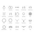 jewelry black thin line icon set vector image