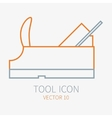 Line working color plane for construction vector image