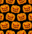 Scary pumpkin seamless pattern Background for vector image