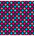Seamless pattern with blue and pink elements vector image