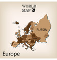 world map europe vector image