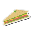 triangle sandwich with olive icon vector image