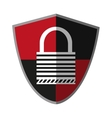 Isolated padlock inside shield design vector image