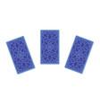 three tarot cards reverse side vector image