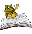Frog And Book vector image vector image