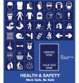 health safety vector image vector image