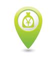 bag of money icon green pointer vector image vector image
