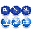 Water icons and stickers vector image