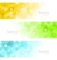 hexagons banners vector image