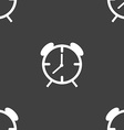Alarm clock sign icon Wake up alarm symbol vector image