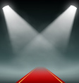 Red carpet illumination Projectors vector image
