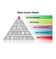 basic human needs chart vector image