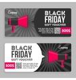 Black Friday Gift Voucher Flat Design vector image