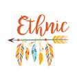 ethnic boho style element print hipster fashion vector image