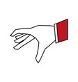 flat line hand design vector image