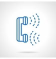 Phone communications blue line icon vector image