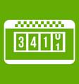 taximeter icon green vector image