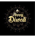 Happy Diwali greeting card for Indian festival vector image
