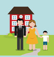 family home domestic image vector image