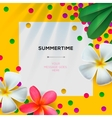 Summertime template with Floral background vector image
