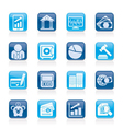 finance and bank icons vector image