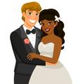 interracial marriage vector image