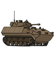 Track armoured vehicle vector image