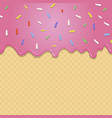 Flowing pink glaze on wafer texture seamless vector image vector image