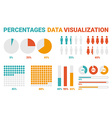 Percentages Data Visualization vector image