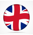 button with waving flag of UK vector image