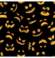 Halloween pumpkin seamless pattern Red pumpkins vector image