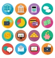 Icon set for finance investment management vector image