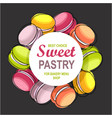 macaroons round frame vector image