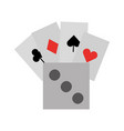 poker card with dice vector image