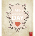 Rustic Valentines Day Card vector image