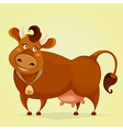 funny cow cartoon character vector image