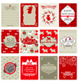 Set of Vintage Christmas Tags vector image vector image