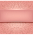 Decorative pink template - 10eps vector image vector image
